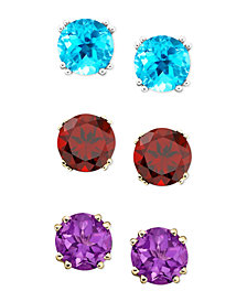 mystic topaz shop studs gold sunset earrings silver index round or in