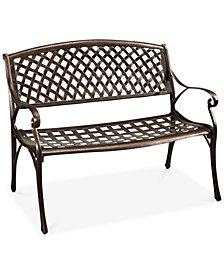 Madison Cast Aluminum Bench, Quick Ship