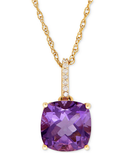 Amethyst (3-3/4 ct. t.w.) and Diamond Accent Pendant Necklace in 14k Gold