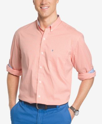 Image of IZOD Men's Performance UPF 15+ Advantage Non Iron Gingham Stretch Shirt
