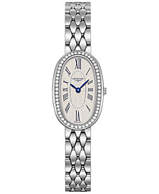 Longines Women's Swiss Symphonette Diamond (1/4 ct. t.w.) Stainless Steel Bracelet Watch 19x29mm L23050716