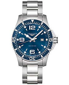 Longines Men's Swiss HydroConquest Stainless Steel Bracelet Watch 44mm L38404966