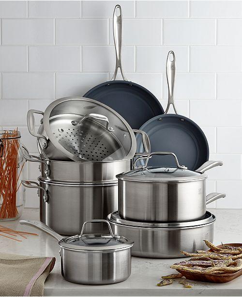J.A. Henckels Zwilling Spirit Ceramic Nonstick 12-Pc. Cookware Set