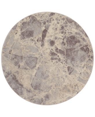 "CLOSEOUT! Moraine MO745 Grey 5'6"" Round Area Rug"