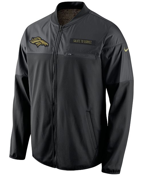 Nike Men s Denver Broncos Salute to Service Hybrid Jacket - Sports ... 10043e4f1