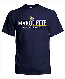 J America Men's Marquette Golden Eagles Line Stack T-Shirt