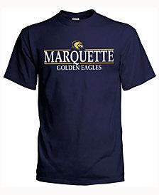 J America Men's Marquette Golden Eagles Line Stack T-Shirt