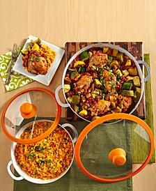 2-Pc. Orange Ceramic Caldero Set