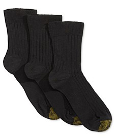 Women's 3 Pack Non-Binding Short Crew Socks, also available in Extended Sizes