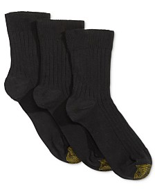 Gold Toe Women's 3-Pk. Non-Binding Short Crew Socks, also available in Extended Sizes