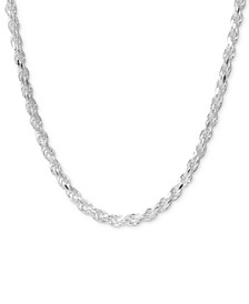 "24"" Rope Chain Necklace in Sterling Silver"