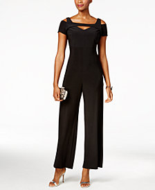 Nightway Cutout Wide-Leg Jumpsuit, Regular & Petite Sizes