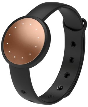 Unisex Shine 2 Black Sport Band Activity Tracker 33Mm Mis2001 in Rose Gold