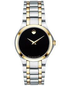 Women's Swiss Collection Two-Tone PVD Stainless Steel Bracelet Watch 28mm, Created for Macy's