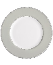 Monique Lhuillier Waterford Dinnerware, Dentelle Gray Accent Plate