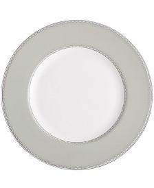 Monique Lhuillier Waterford Dinnerware, Dentelle Gray Accent Plate