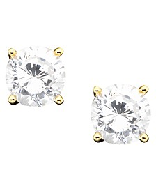 18k Gold over Sterling Silver Cubic Zirconia Stud Earrings (1 ct. t.w.)