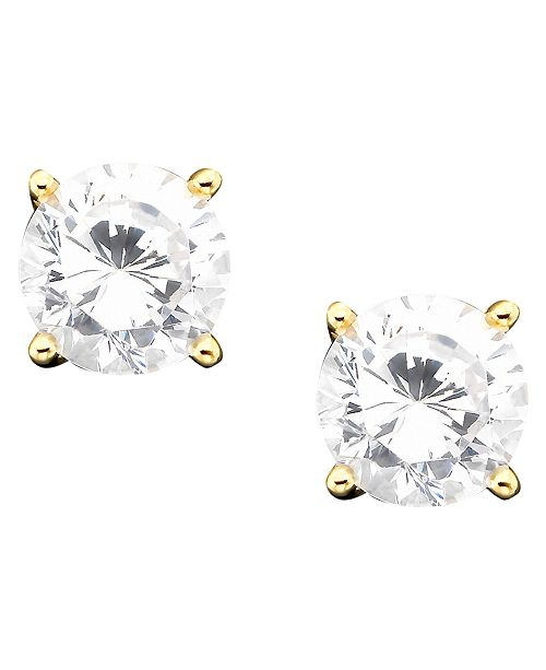 61f10f95d6e74d t.w.; Giani Bernini 18k Gold over Sterling Silver Cubic Zirconia Stud  Earrings (1 ct.