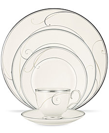 Noritake Dinnerware, Platinum Wave Round 5 Piece Place Setting