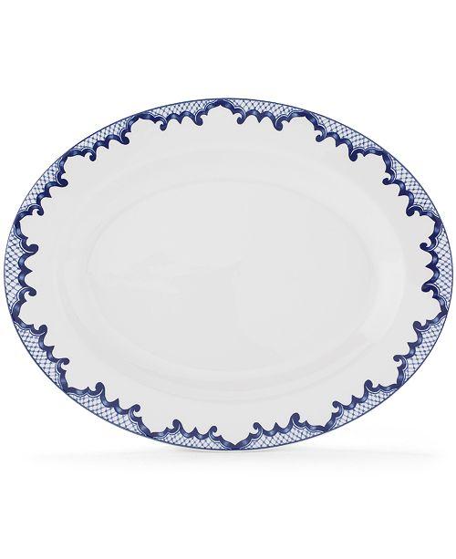 Lauren Ralph Lauren Dinnerware, Mandarin Blue Oval Platter