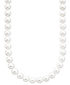 "Belle de Mer Pearl Necklace, 18"" 14k Gold A+ Akoya Cultured Pearl Strand (6-1/2-7mm)"