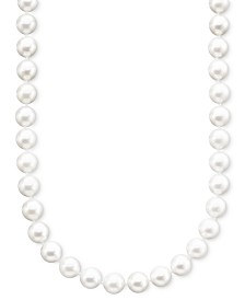 "Belle de Mer Pearl Necklace, 18"" 14k Gold A+ Akoya Cultured Pearl Strand (7-7-1/2mm)"