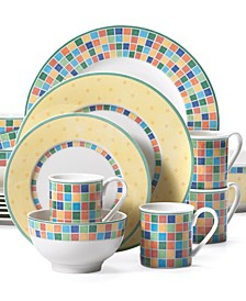 Twist Alea 18-Pc. Dinnerware Set, Service for 4