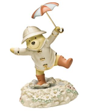 "Lenox Disney's Winnie and the Pooh ""Pooh's Singing in the Rain"" Figurine"