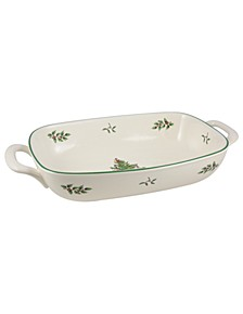 Christmas Tree Serveware Handled Bread Basket
