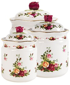 "Royal Albert ""Old Country Roses"" Canisters, Set of 3"