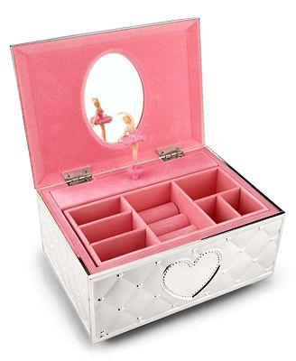 Lenox childhood memories musical ballerina jewelry box for Macy s standing jewelry box