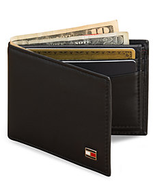Tommy Hilfiger Oxford Slim Bifold Leather Men's Wallet