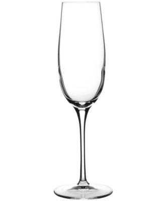 Glassware, Set of 4 Crescendo Champagne Flutes