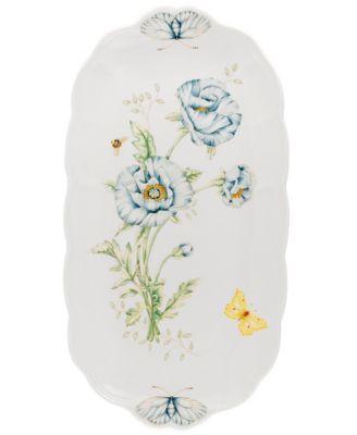 """""""Butterfly Meadow"""" Oblong Sandwich Tray, 14 3/4"""""""