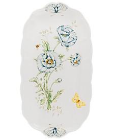 """Lenox """"Butterfly Meadow"""" Oblong Sandwich Tray, 14 3/4"""""""