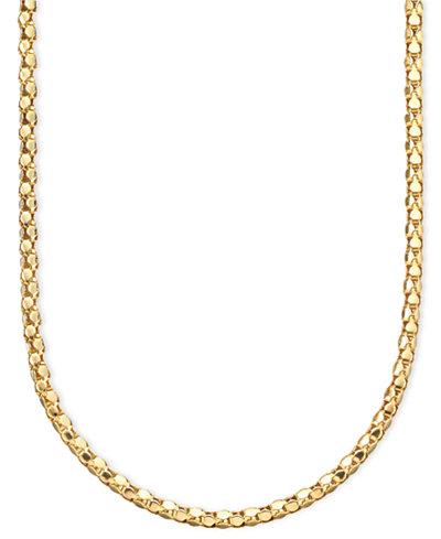14k Gold Diamond-Cut Popcorn Necklace