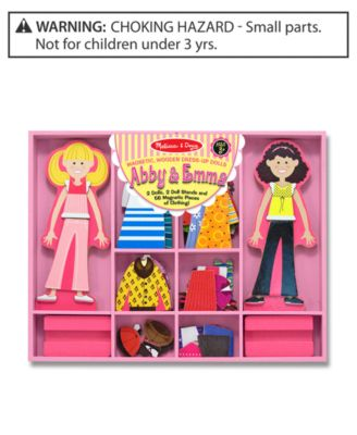 Melissa and Doug Girls Toy, Abby and Emma Magnetic Dress-Up Set