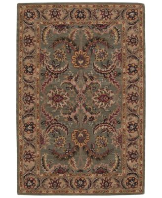 CLOSEOUT! Area Rug, India House IH18 Green  5' x 8'