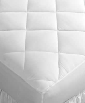 Image of Home Design King Mattress Pad, Down Alternative Fiber Fill, Diamond Stitch Quilted Cover, Only at Ma