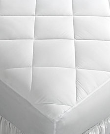 CLOSEOUT! Home Design Queen Mattress Pad, Down Alternative Fiber Fill, Diamond Stitch Quilted Cover, Created for Macy's