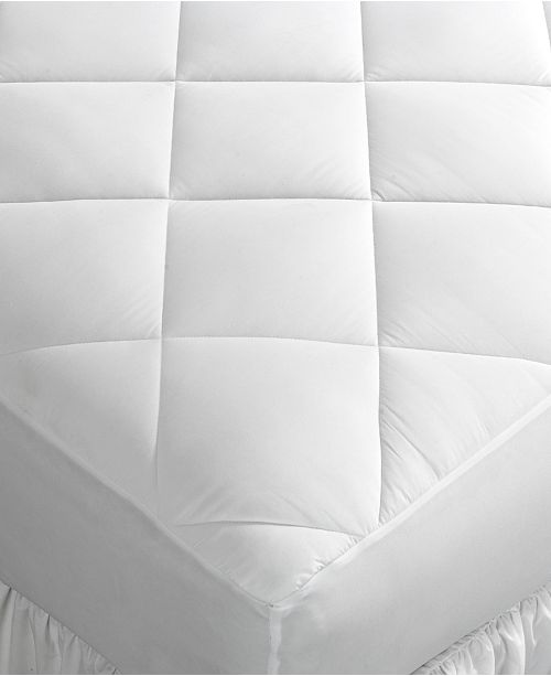 Home Design CLOSEOUT! Full Mattress Pad, Down Alternative Fiber Fill, Diamond Stitch Quilted Cover, Created for Macy's