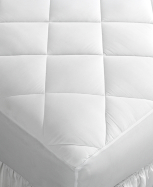 Home Design King Mattress Pad, Down Alternative Fiber Fill,