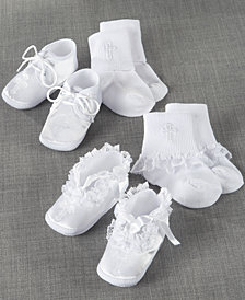 Lauren Madison Baby Boys & Girls Low-Cut Socks and Shoes Christening Set