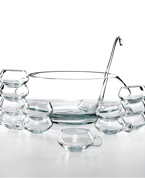 Libbey Glassware, Moderno 14 Piece Punch Bowl Set