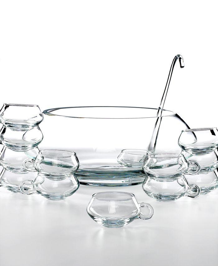 Libbey - Drinkware, Moderno 14 Piece Punch Bowl Set