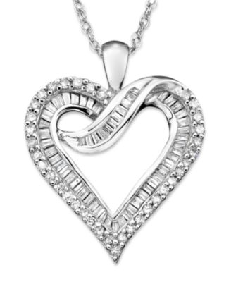 Diamond heart necklace in 14k white gold or 14k gold 12 ct tw diamond heart necklace in 14k white gold or 14k gold 12 ct tw necklaces jewelry watches macys aloadofball Gallery