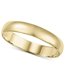 14k Gold Ring, 4mm Wedding Band