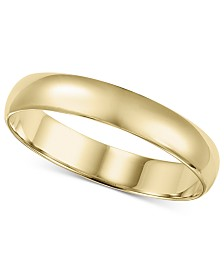 14k Gold 2-6mm Wedding Band