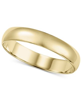 Macy S 14k Gold 2 6mm Wedding Band Rings Jewelry Watches Macy S