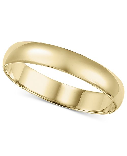 Macy's 14k Gold 2-6mm Wedding Band